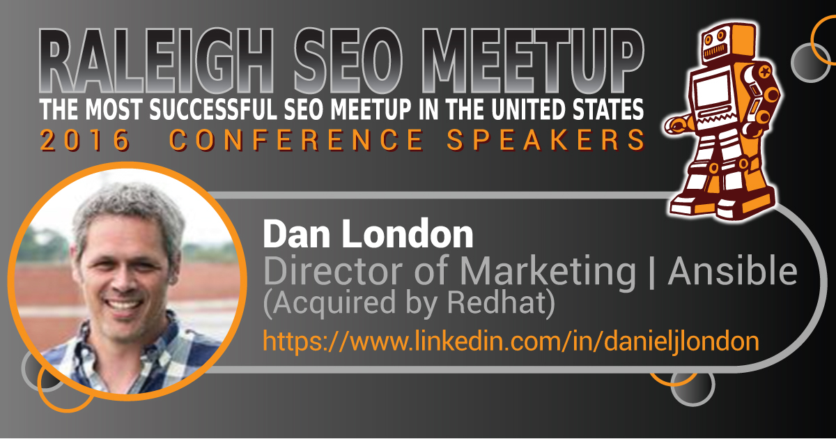Dan London speaking at the Raleigh SEO Meetup Conference