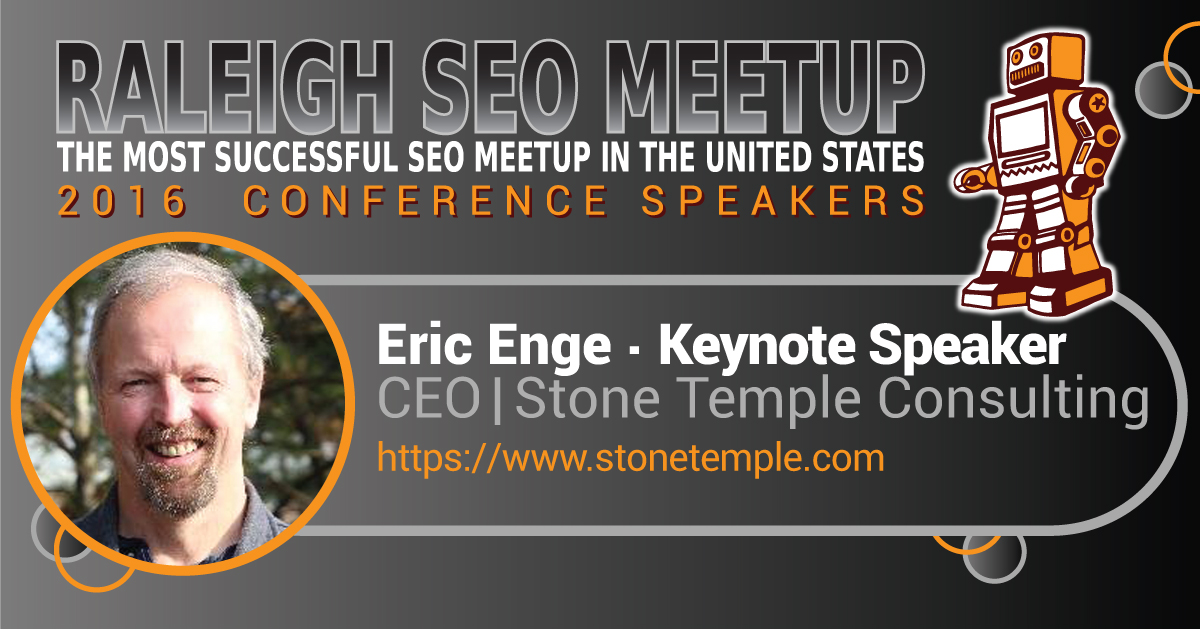 Eric Enge speaking at the Raleigh SEO Meetup Conference