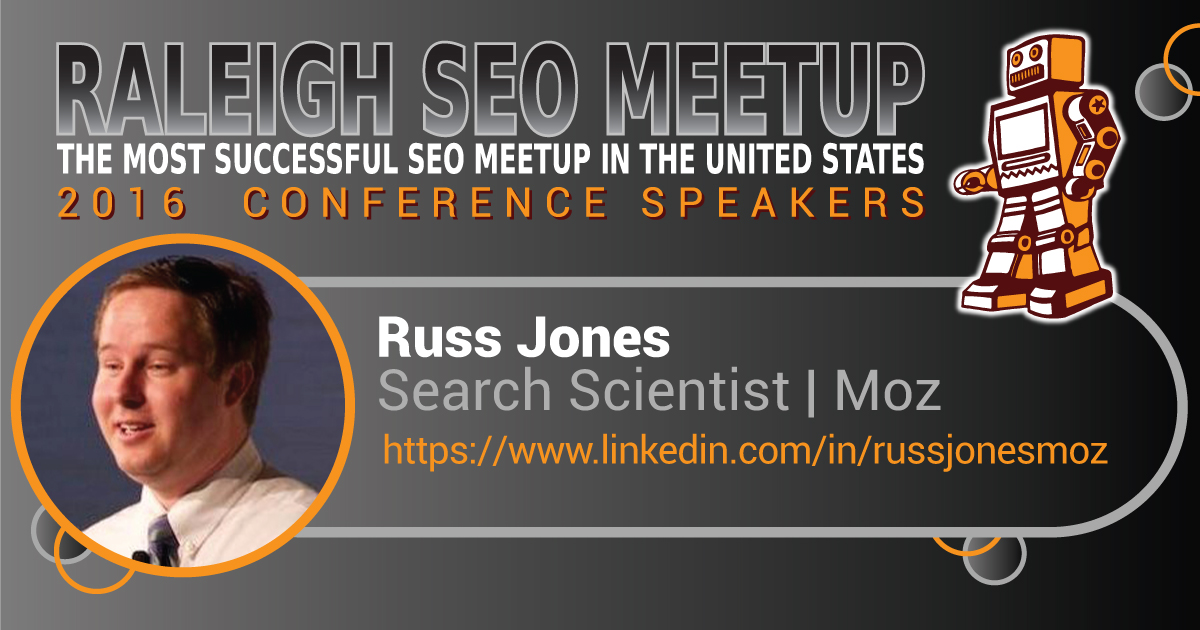 Russ Jones speaking at the Raleigh SEO Meetup Conference