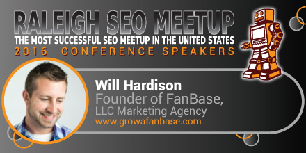 Will Hardison speaking at the Raleigh SEO Meetup Conference